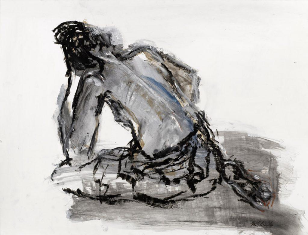 2010: Thoughtful Donna 50 x 64 cm, acryl oilbar, coll. priv.