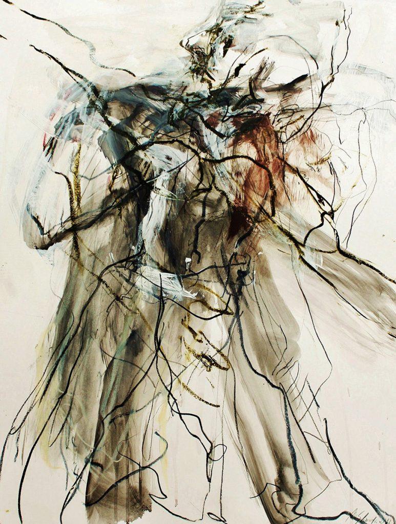2013: Camil's Improvisation, 65 x 50 cm, Ink Oilbar Graphite on paper