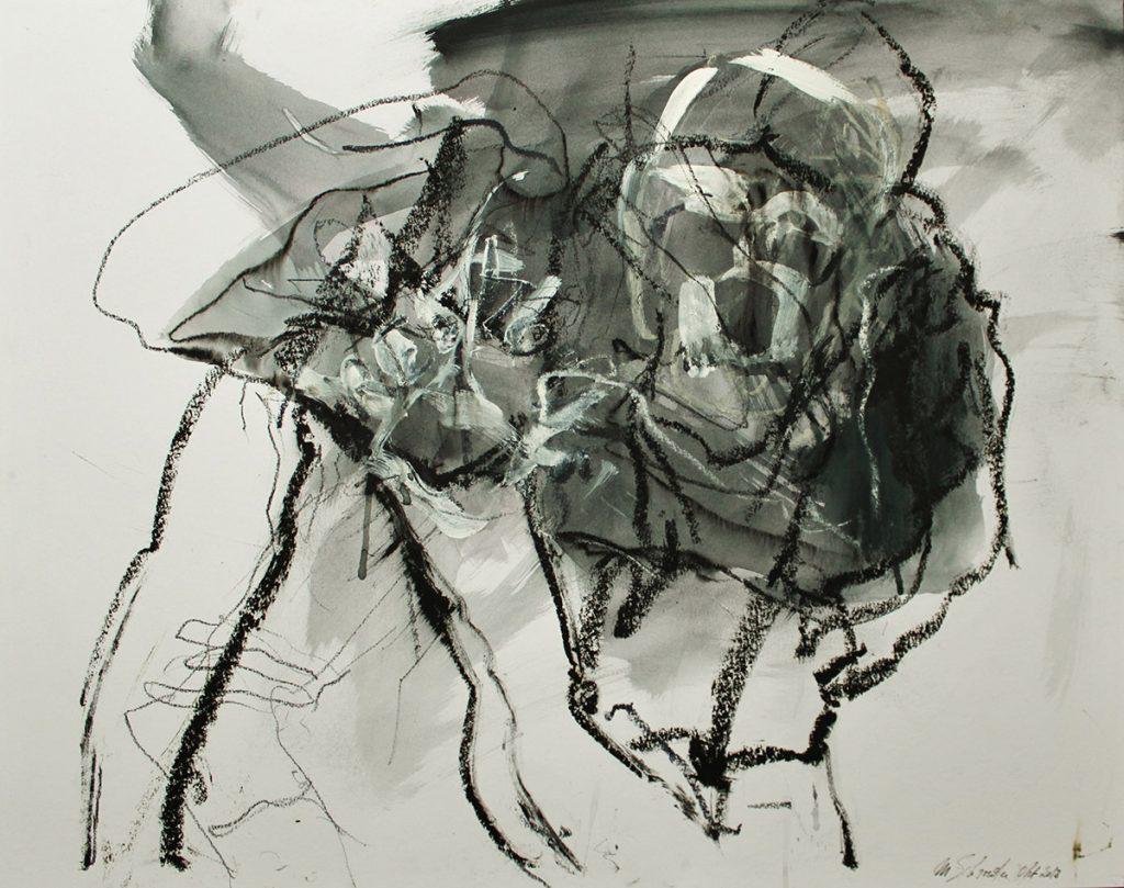2013: Camil's Dance, 50 x 64 cm, Ink Oilbar Graphite on paper