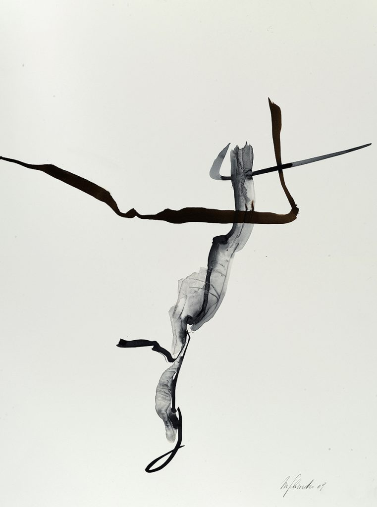 2009: Calligraphie 60 x 45 cm on paper