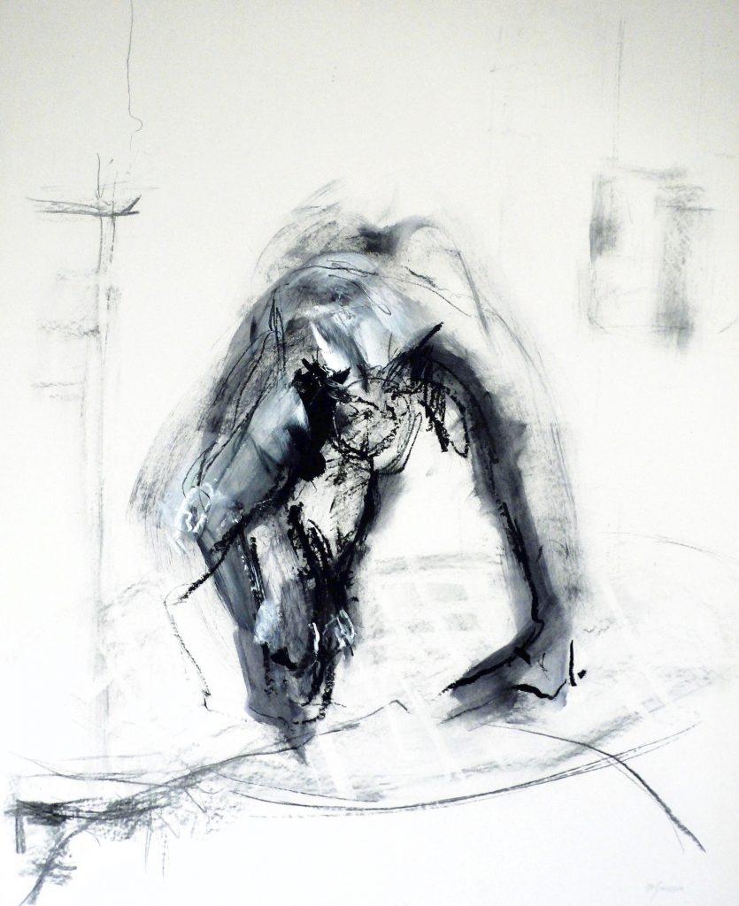 2003: Urgefühl, 1,00 x 0,80 m, Acryl Oilbar sur papier.
