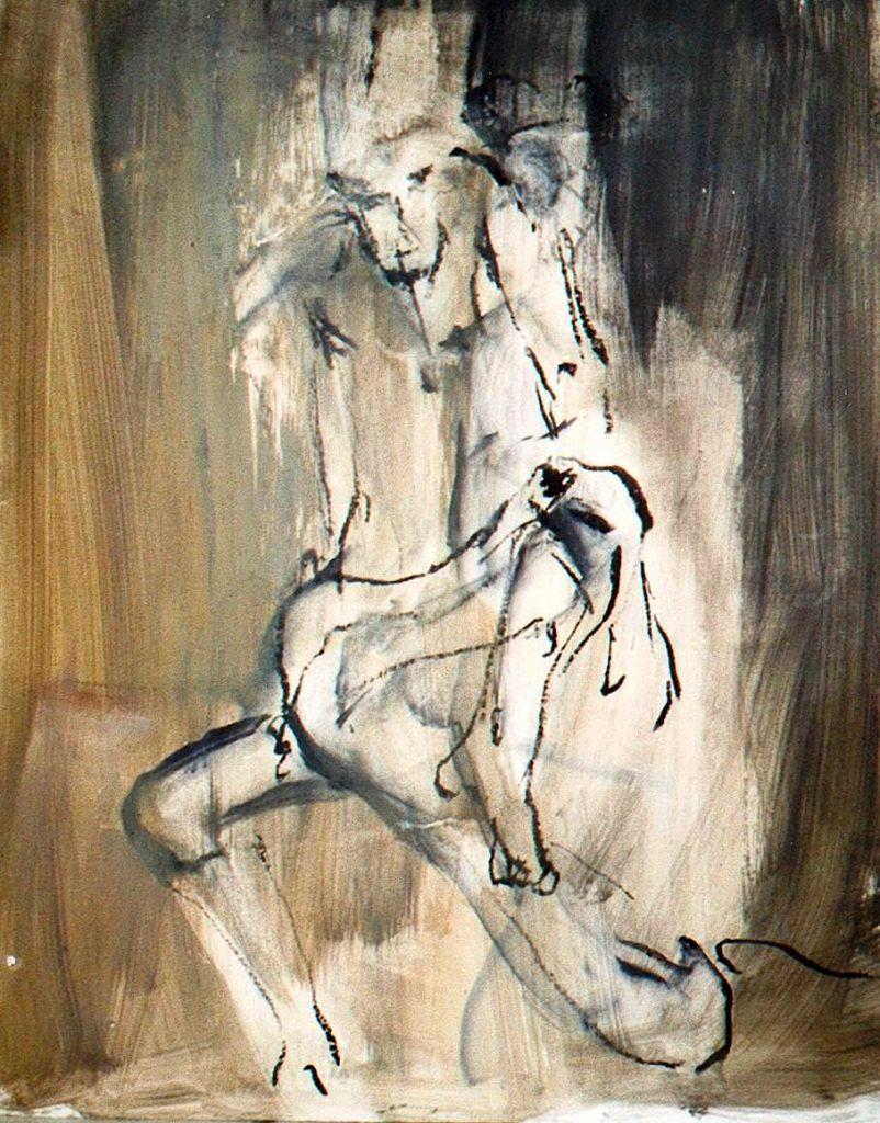 2006: Dancer, 1,00 x 0,80 m, Acryl Oilbar sur papier.