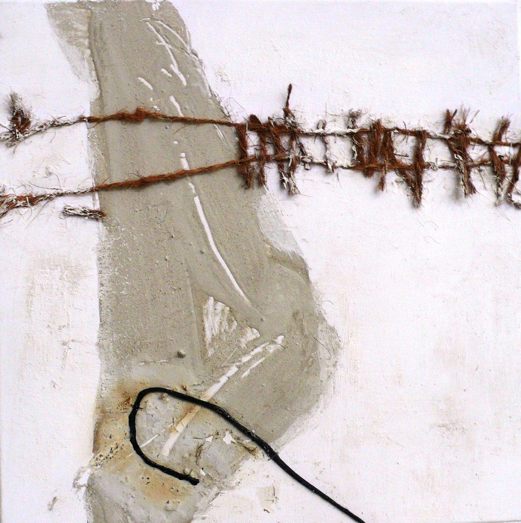 2008: Materia 1,50 x 0,50 m, Beton Marmorph. Collage auf Leinwand.