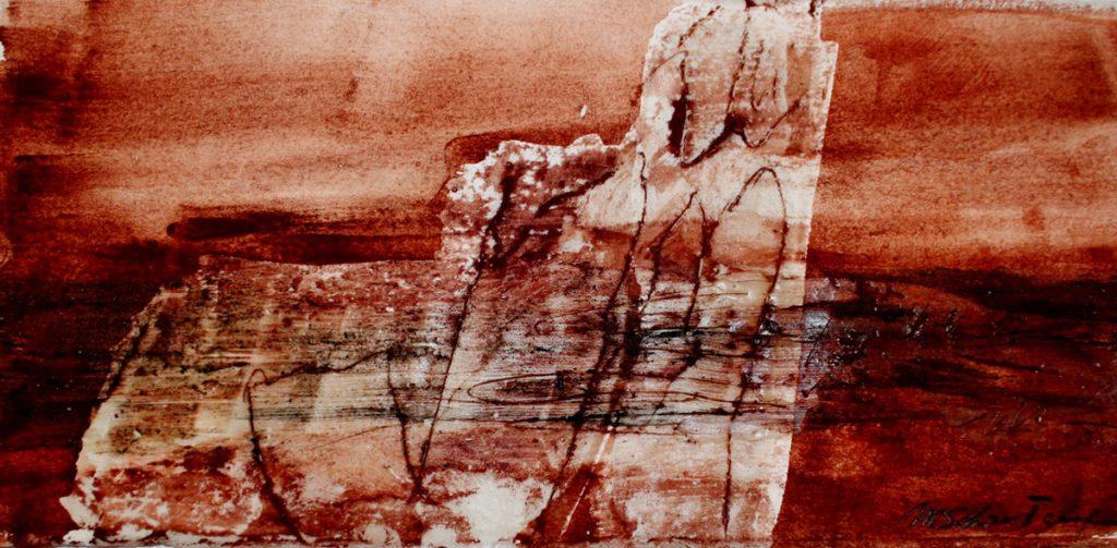 2015: Earth Dust 5, 30 x 40 cm, Basalt Pigmente Wachs auf Papier 2.