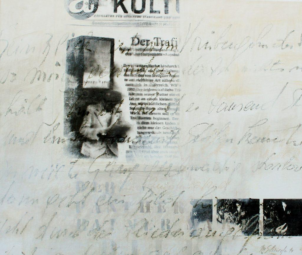 2014: Traces d'écrit – 0,60 x 0,70 m acryl oilbar auf Leinwand