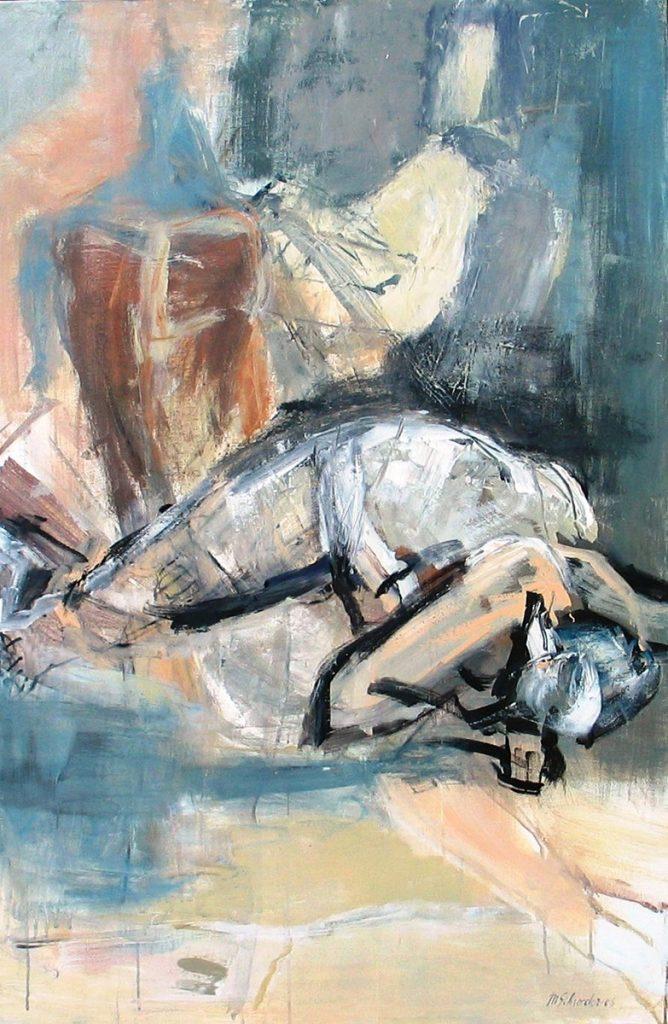 2005: Hannah Ruht, 10 x 0,80 m, Acryl sur toile