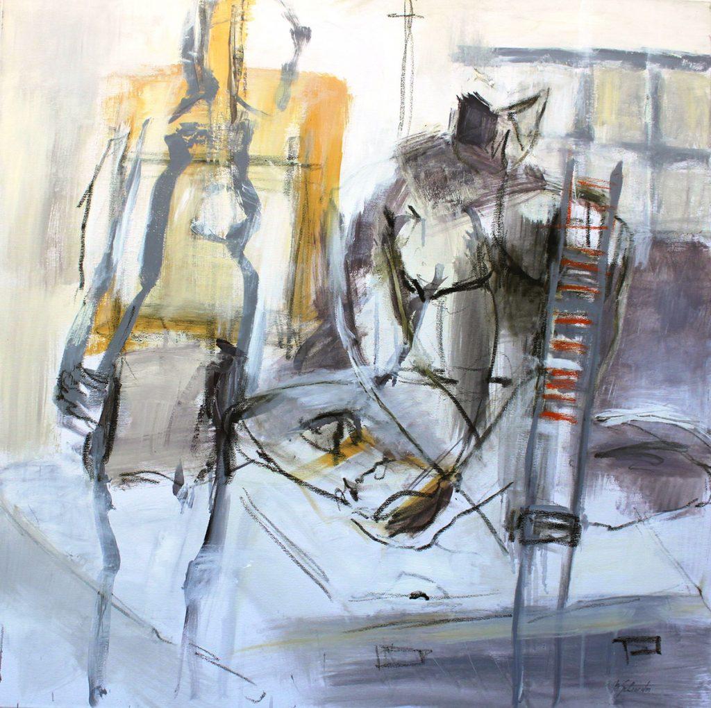 2010: A l'Atelier 1,00 x 1,00 m, Acryl oilbar sur toile