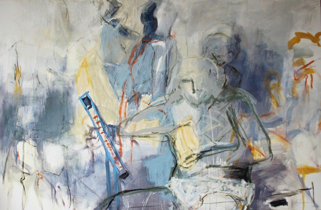 2010: Lichtstimmung im Atelier, 1,00 x 1,50 m, Acryl oilbar sur toile