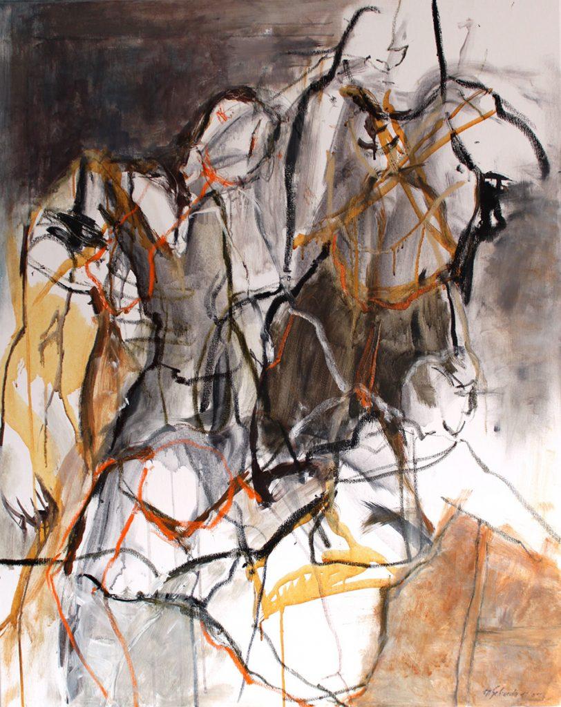 2011: Danse de Camil et Felizia, 1,00 x 0,80 m, oilbar acryl sur toile