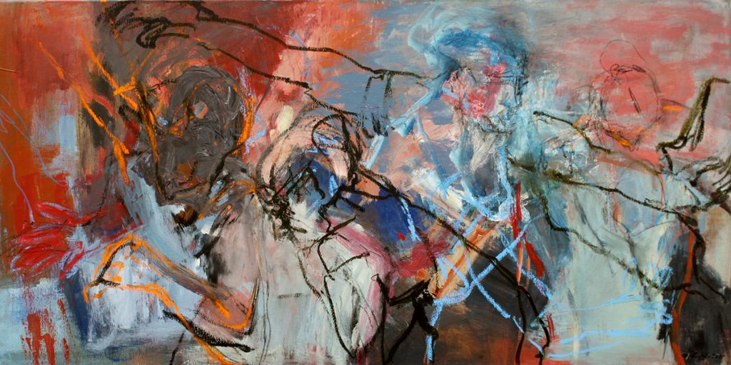 2012: Espace Dansant, 0,60 x 1,20 m, Acryl oilbar sur toile
