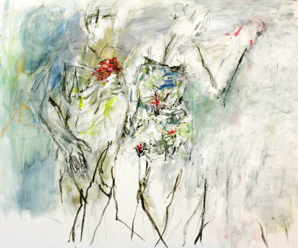 2012: Frühlingsgefühle, 1,00 x 1,20 m, Acryl oilbar sur toile