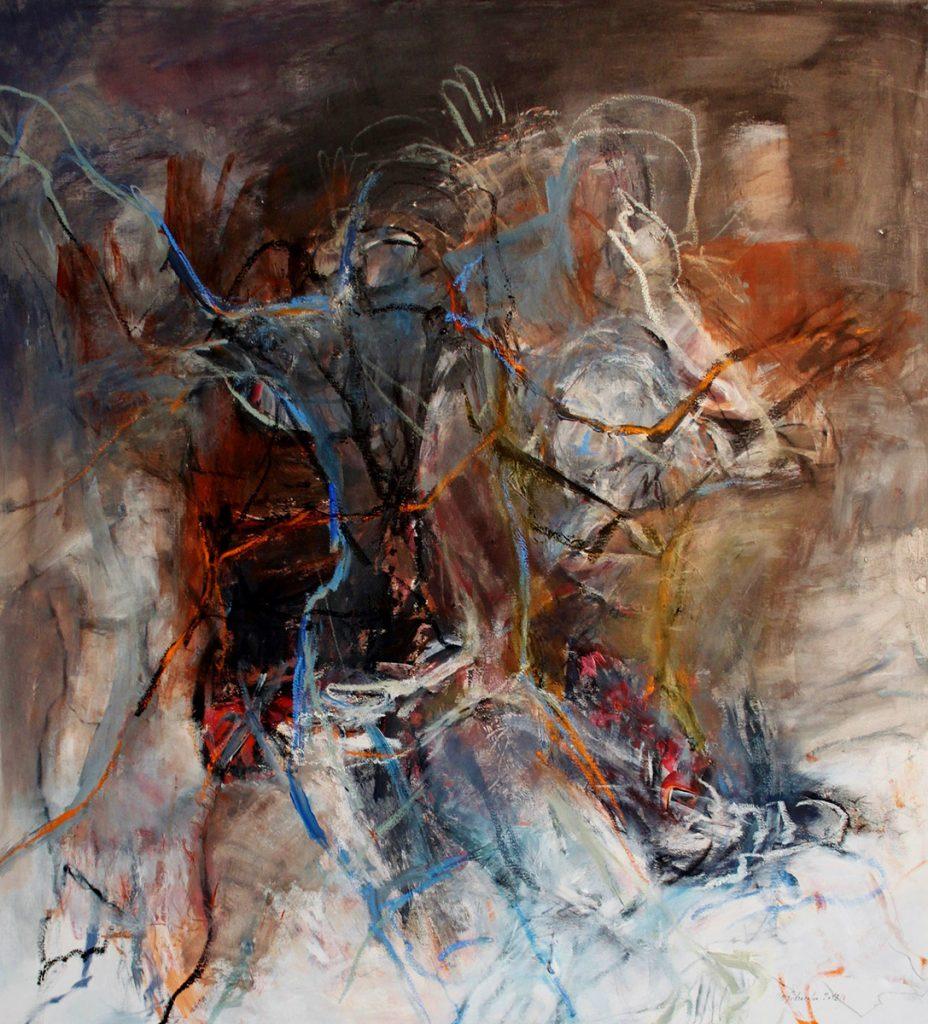 2012: Swinging Life, 1,10 x 1,00 m, Acryl oilbar sur toile
