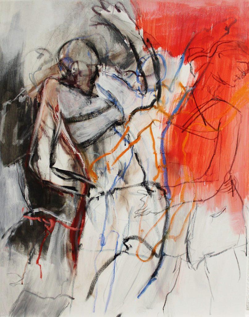 2017: Donna's Dance, 0,90 x 0,70 m, Acryl oilbar sur toile